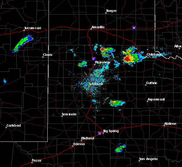 Radar Image for Severe Thunderstorms near Turkey, TX at 8/15/2019 8:19 PM CDT