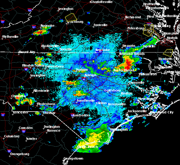 Radar Image for Severe Thunderstorms near Speed, NC at 8/15/2019 9:22 PM EDT