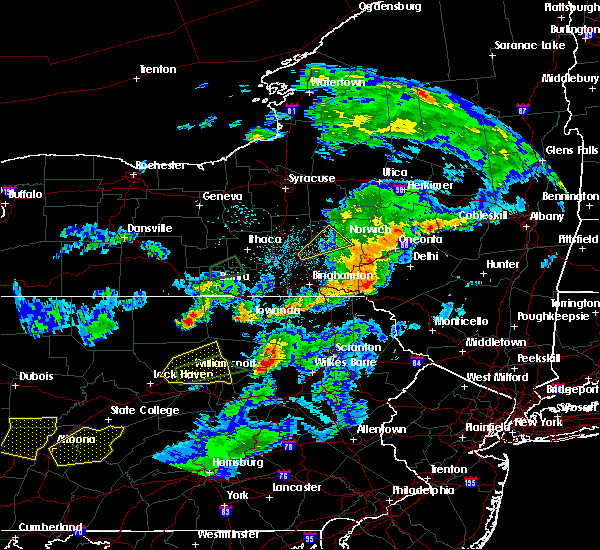 Radar Image for Severe Thunderstorms near Sugar Notch, PA at 8/15/2019 9:42 PM EDT