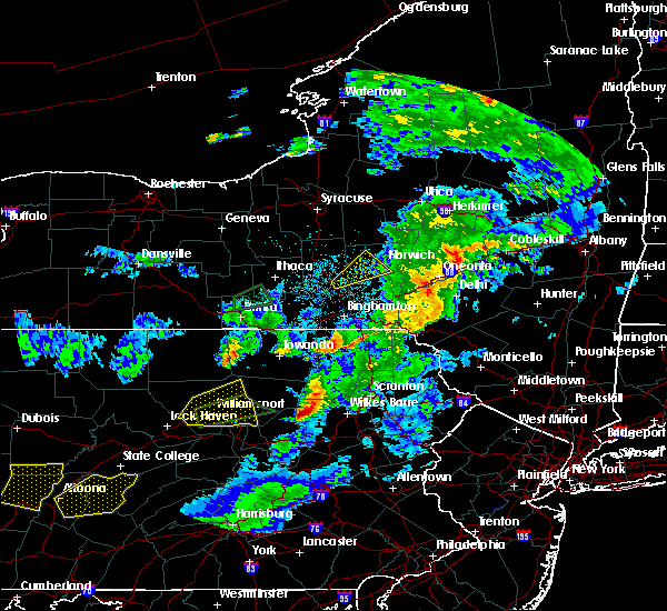 Radar Image for Severe Thunderstorms near Sugar Notch, PA at 8/15/2019 10:01 PM EDT