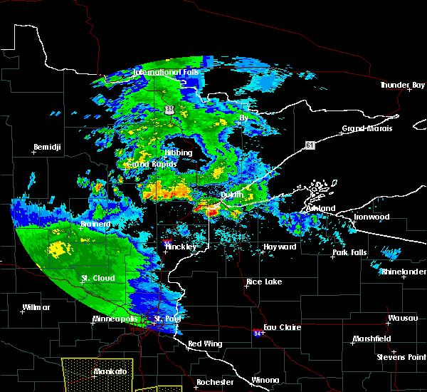 Radar Image for Severe Thunderstorms near Duluth, MN at 6/22/2015 6:22 AM CDT