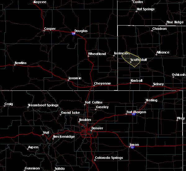 Radar Image for Severe Thunderstorms near Alliance, NE at 8/16/2019 1:22 AM MDT