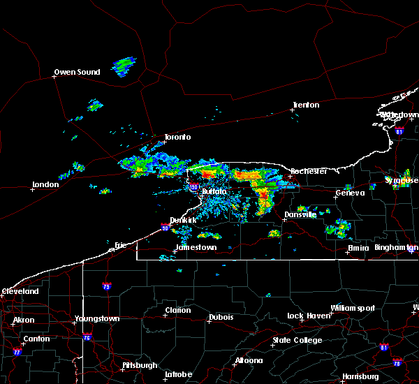 Radar Image for Severe Thunderstorms near Lima, NY at 8/16/2019 5:43 PM EDT