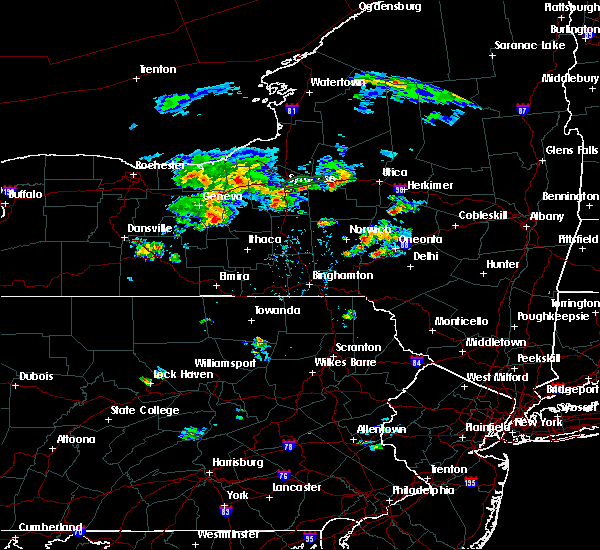 Radar Image for Severe Thunderstorms near Auburn, NY at 8/16/2019 8:07 PM EDT