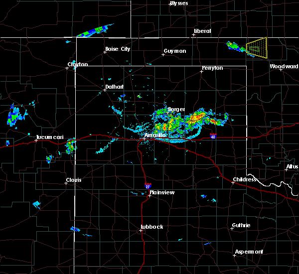 Radar Image for Severe Thunderstorms near Lefors, TX at 8/16/2019 8:05 PM CDT