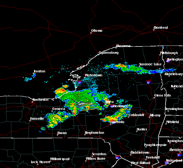 Radar Image for Severe Thunderstorms near Oneida, NY at 8/16/2019 9:19 PM EDT