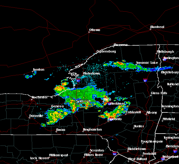 Radar Image for Severe Thunderstorms near Oneida, NY at 8/16/2019 9:27 PM EDT