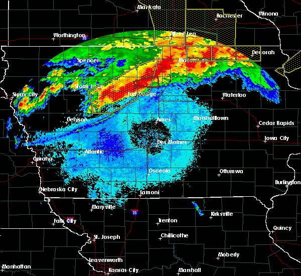 Radar Image for Severe Thunderstorms near Hansell, IA at 6/22/2015 7:19 AM CDT