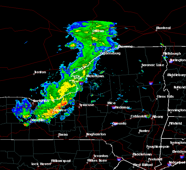 Radar Image for Severe Thunderstorms near Meridian, NY at 8/17/2019 1:35 PM EDT