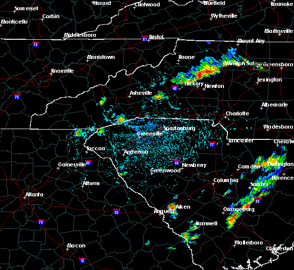 Radar Image for Severe Thunderstorms near Flat Rock, NC at 8/17/2019 2:36 PM EDT