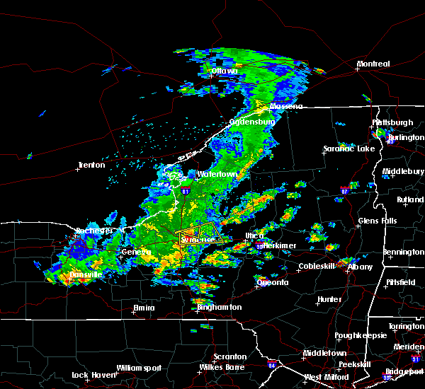 Radar Image for Severe Thunderstorms near Oneida, NY at 8/17/2019 2:40 PM EDT