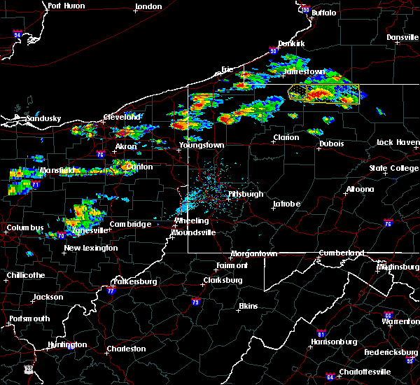 Radar Image for Severe Thunderstorms near Utica, PA at 8/17/2019 3:30 PM EDT
