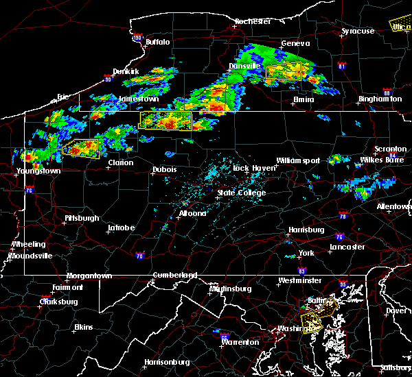Radar Image for Severe Thunderstorms near Roulette, PA at 8/17/2019 4:03 PM EDT