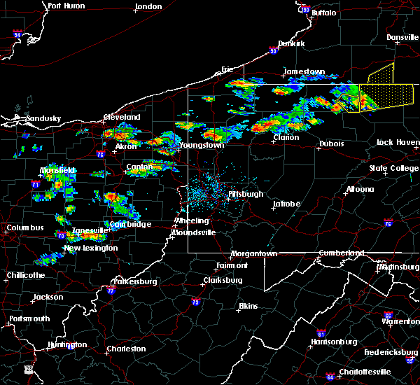Radar Image for Severe Thunderstorms near Clark, PA at 8/17/2019 4:27 PM EDT