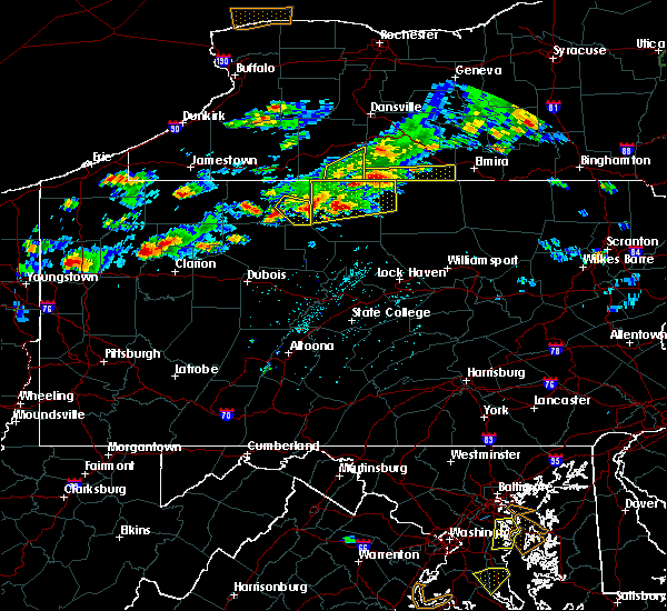 Radar Image for Severe Thunderstorms near Roulette, PA at 8/17/2019 4:31 PM EDT