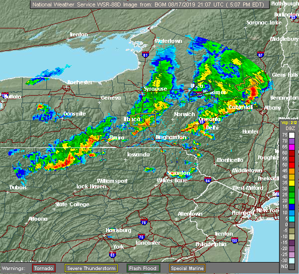 Radar Image for Severe Thunderstorms near Dunmore, PA at 8/17/2019 5:11 PM EDT