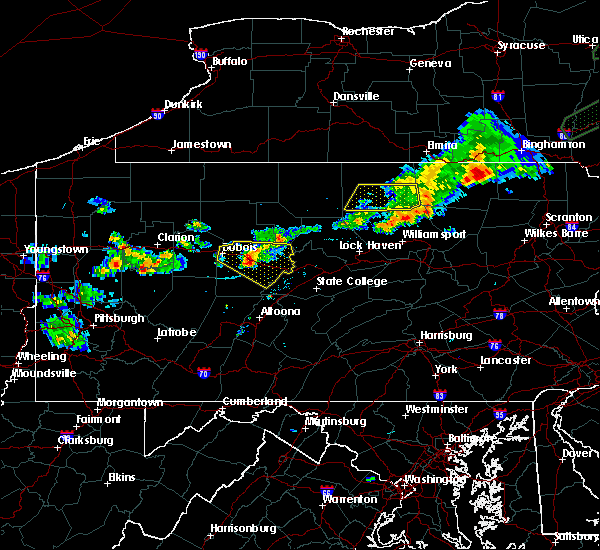 Radar Image for Severe Thunderstorms near Wallaceton, PA at 8/17/2019 6:26 PM EDT