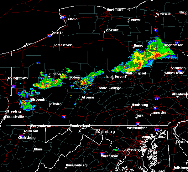 Radar Image for Severe Thunderstorms near Grassflat, PA at 8/17/2019 6:49 PM EDT