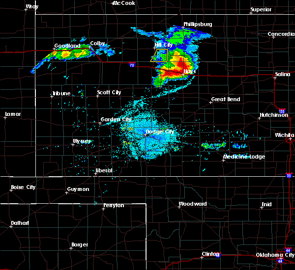Radar Image for Severe Thunderstorms near Lucas, KS at 8/17/2019 9:14 PM CDT