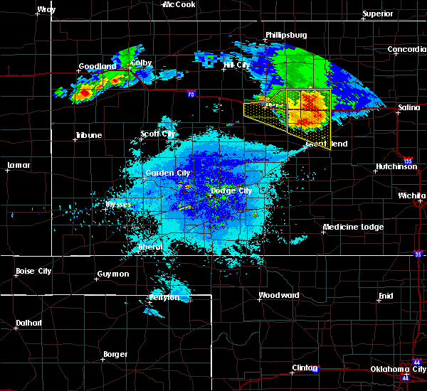 Radar Image for Severe Thunderstorms near Susank, KS at 8/17/2019 10:04 PM CDT