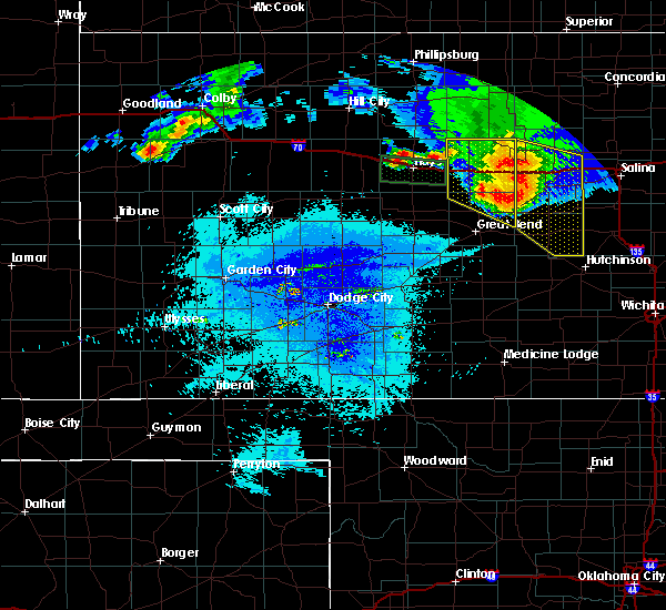 Radar Image for Severe Thunderstorms near Susank, KS at 8/17/2019 10:19 PM CDT