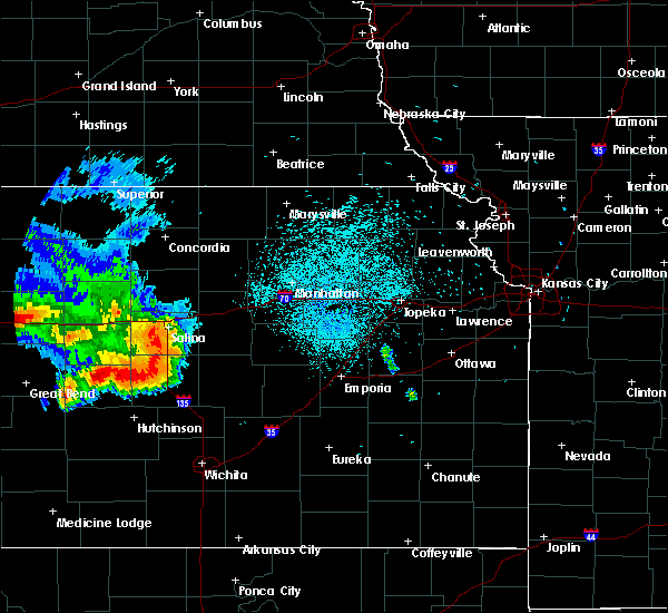 Radar Image for Severe Thunderstorms near Carlton, KS at 8/17/2019 11:18 PM CDT