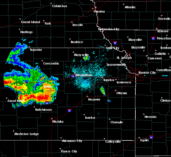 Radar Image for Severe Thunderstorms near Carlton, KS at 8/17/2019 11:40 PM CDT