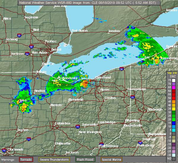 Radar Image for Severe Thunderstorms near Richfield, OH at 8/18/2019 5:59 AM EDT