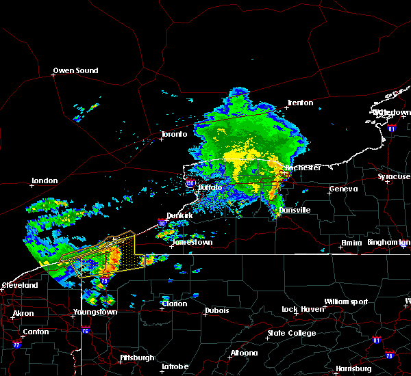 Radar Image for Severe Thunderstorms near Panama, NY at 8/18/2019 8:07 AM EDT