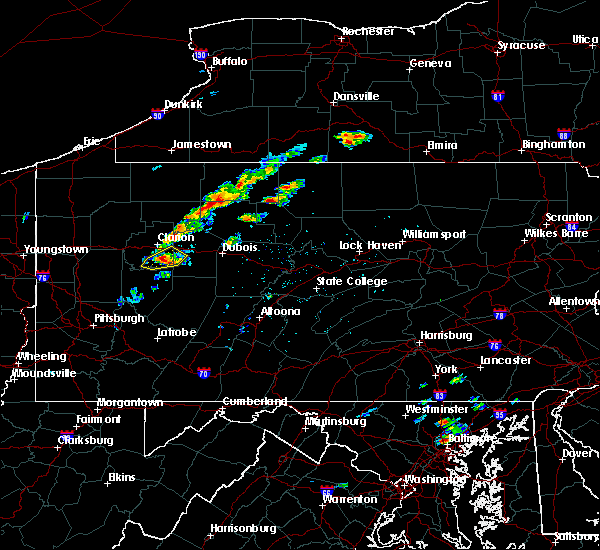 Radar Image for Severe Thunderstorms near St. Marys, PA at 8/18/2019 12:53 PM EDT