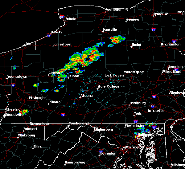 Radar Image for Severe Thunderstorms near Ridgway, PA at 8/18/2019 1:23 PM EDT