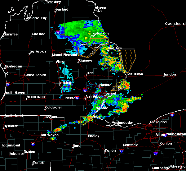 Radar Image for Severe Thunderstorms near Toledo, OH at 8/18/2019 2:27 PM EDT