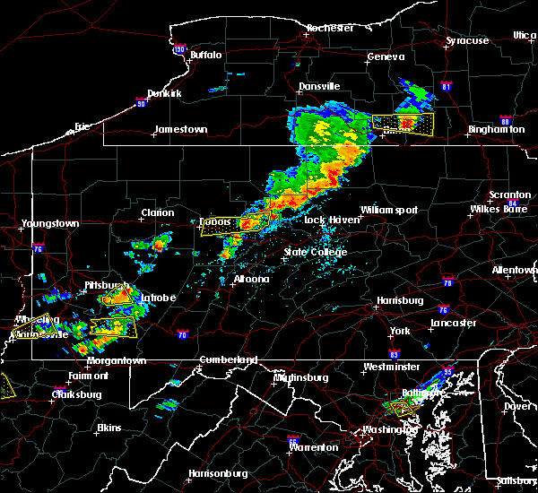 Radar Image for Severe Thunderstorms near Rossiter, PA at 8/18/2019 2:51 PM EDT
