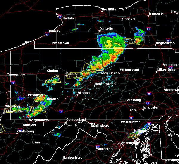 Radar Image for Severe Thunderstorms near Roseville, PA at 8/18/2019 2:57 PM EDT