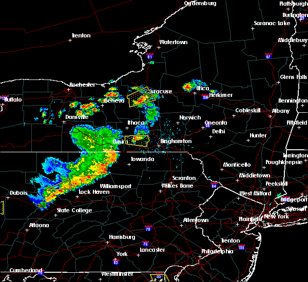 Radar Image for Severe Thunderstorms near Waverly, NY at 8/18/2019 3:19 PM EDT