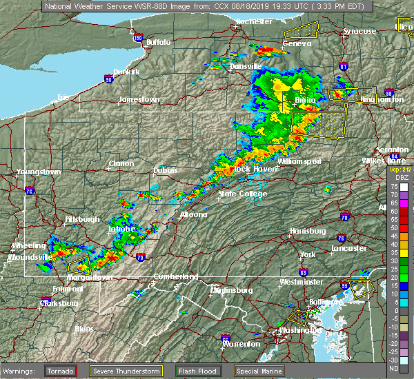 Radar Image for Severe Thunderstorms near Avis, PA at 8/18/2019 3:36 PM EDT