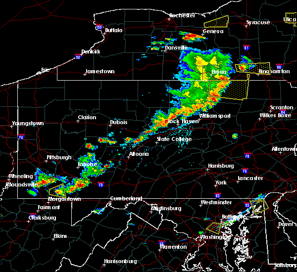Radar Image for Severe Thunderstorms near Rossiter, PA at 8/18/2019 3:38 PM EDT
