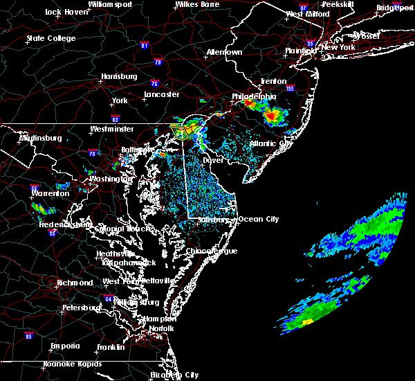 Radar Image for Severe Thunderstorms near Newark, DE at 8/18/2019 3:41 PM EDT