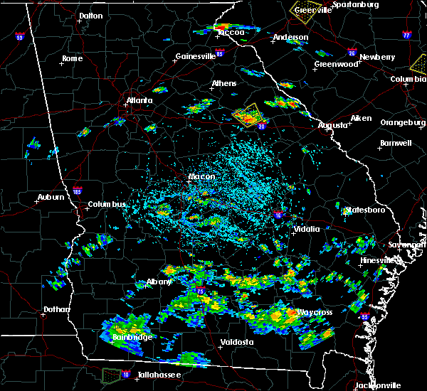 Radar Image for Severe Thunderstorms near Woodville, GA at 8/18/2019 4:10 PM EDT