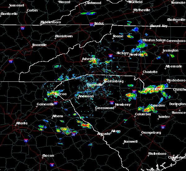 Radar Image for Severe Thunderstorms near Lincolnton, GA at 8/18/2019 4:35 PM EDT