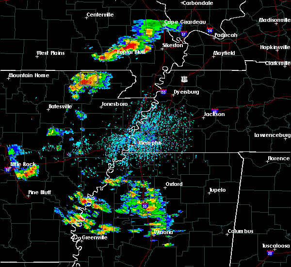 Radar Image for Severe Thunderstorms near Pocahontas, AR at 8/18/2019 3:45 PM CDT