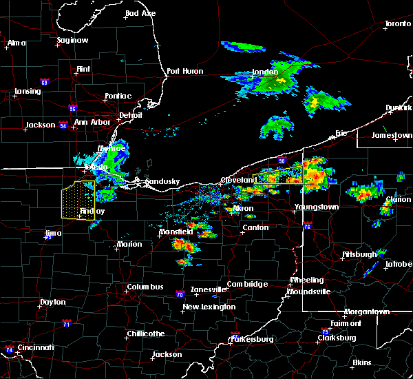 Radar Image for Severe Thunderstorms near Roaming Shores, OH at 8/18/2019 5:07 PM EDT