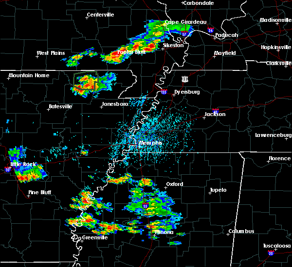 Radar Image for Severe Thunderstorms near Pocahontas, AR at 8/18/2019 4:11 PM CDT