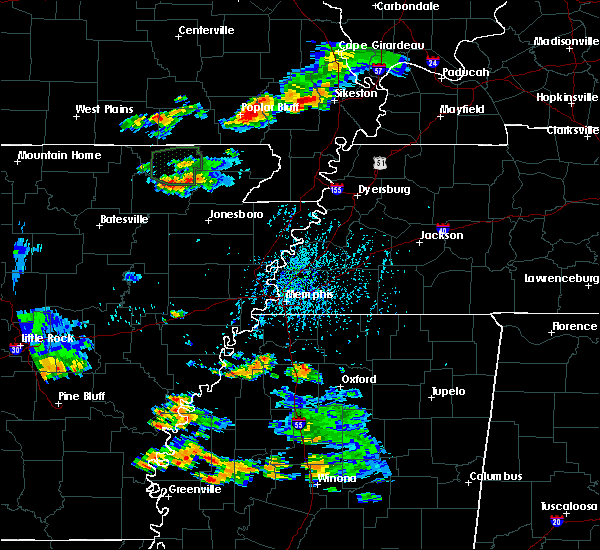 Radar Image for Severe Thunderstorms near Pocahontas, AR at 8/18/2019 4:22 PM CDT