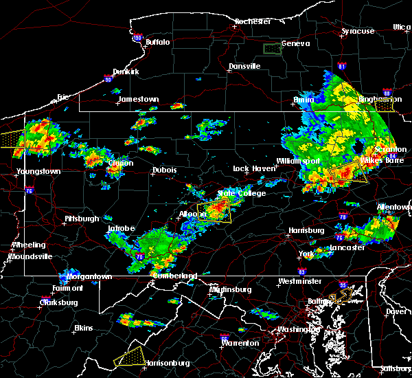 Radar Image for Severe Thunderstorms near Strodes Mills, PA at 8/18/2019 5:28 PM EDT