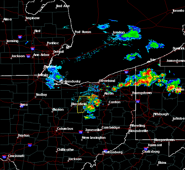 Radar Image for Severe Thunderstorms near North Lawrence, OH at 8/18/2019 5:39 PM EDT