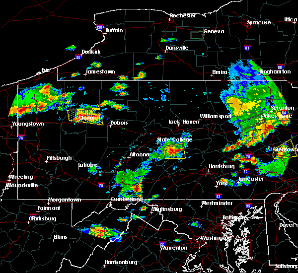 Radar Image for Severe Thunderstorms near Marianne, PA at 8/18/2019 5:52 PM EDT