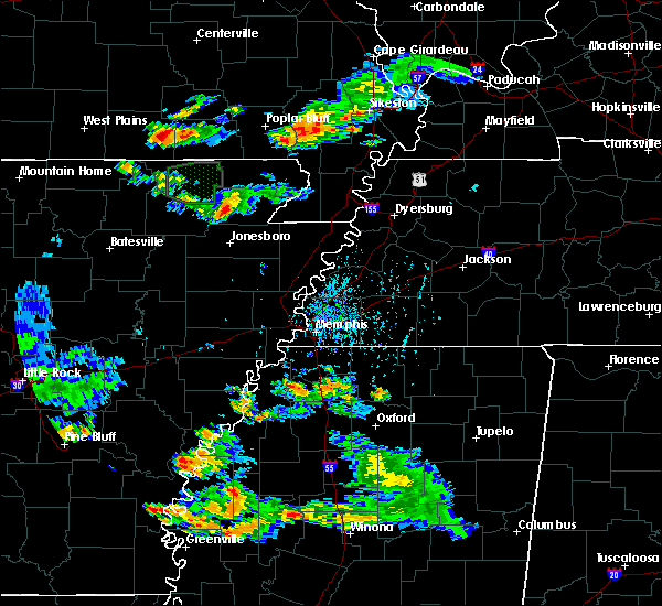 Radar Image for Severe Thunderstorms near Pocahontas, AR at 8/18/2019 4:55 PM CDT