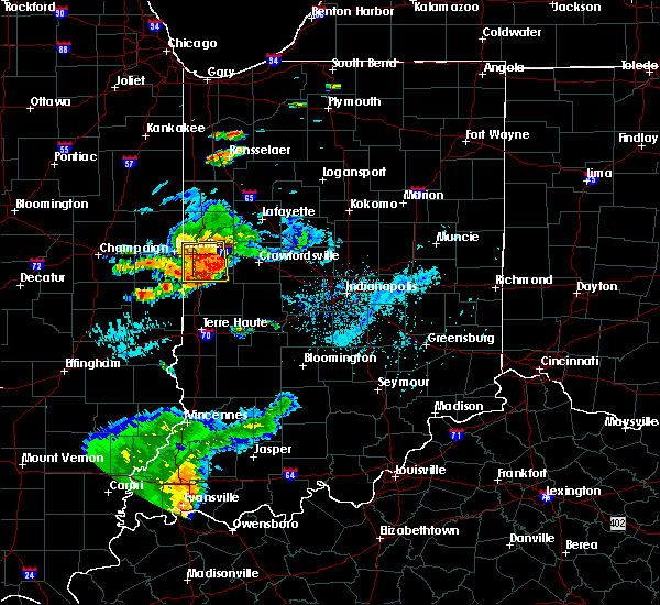 Radar Image for Severe Thunderstorms near Crawfordsville, IN at 8/18/2019 5:56 PM EDT