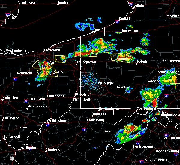 Radar Image for Severe Thunderstorms near Vienna Center, OH at 8/18/2019 6:02 PM EDT